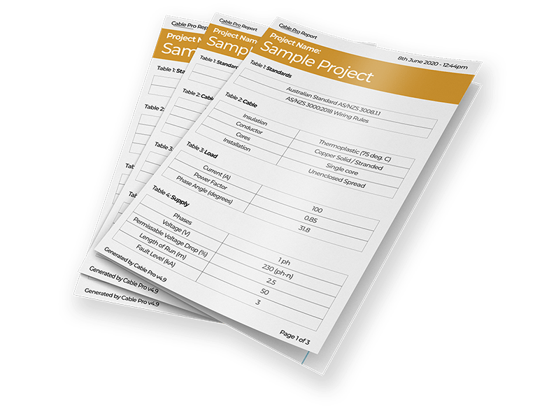 Cable Pro Sample Reports