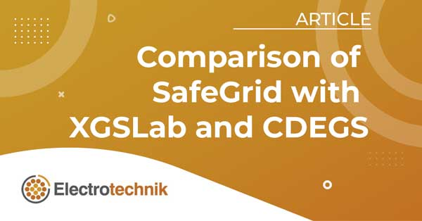 Comparison Of Safegrid With XGSLab And CDEGS